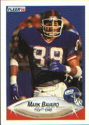1990 Fleer #64 Mark Bavaro