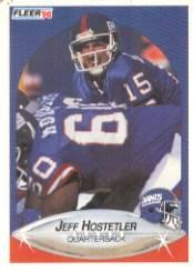 1990 Fleer #67 Jeff Hostetler RC