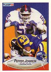 1990 Fleer #69 Pepper Johnson
