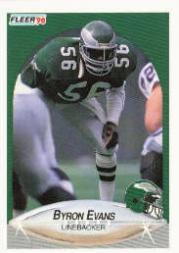 1990 Fleer #83B Byron Evans COR RC