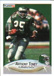 1990 Fleer #92 Anthony Toney