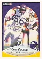 1990 Fleer #97 Chris Doleman