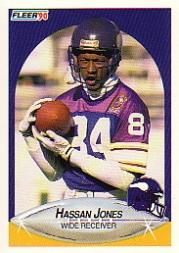 1990 Fleer #100 Hassan Jones