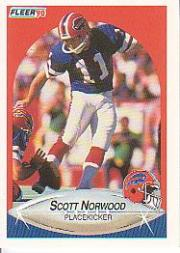 1990 Fleer #114 Scott Norwood UER