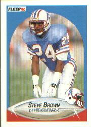 1990 Fleer #125 Steve Brown