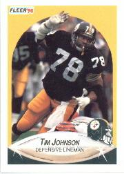 1990 Fleer #144 Tim Johnson front image