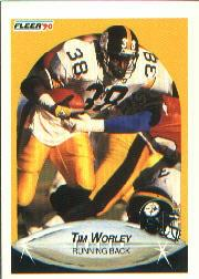 1990 Fleer #153 Tim Worley