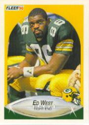 1990 Fleer #181 Ed West RC