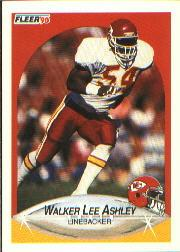 1990 Fleer #198 Walker Lee Ashley RC
