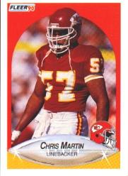 1990 Fleer #205 Chris Martin RC