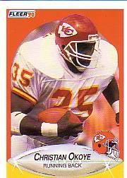 1990 Fleer #206 Christian Okoye