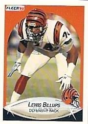 1990 Fleer #210 Lewis Billups