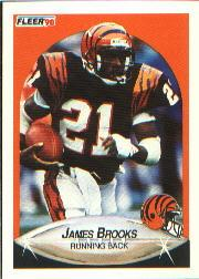 1990 Fleer #211 James Brooks