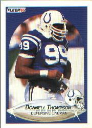 1990 Fleer #233 Donnell Thompson