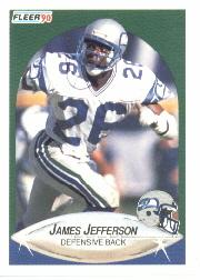 1990 Fleer #267 James Jefferson