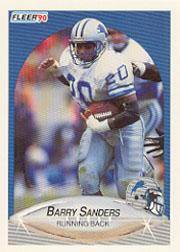 1990 Fleer #284 Barry Sanders