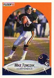 1990 Fleer #301 Mike Tomczak
