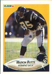 1990 Fleer #305 Marion Butts