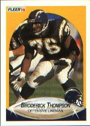 1990 Fleer #315 Broderick Thompson RC