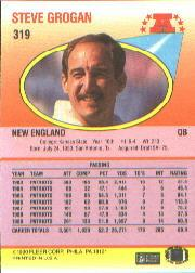 1990 Fleer #319 Steve Grogan back image