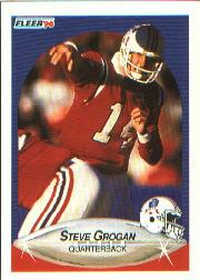 1990 Fleer #319 Steve Grogan