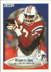 1990 Fleer #327 Kenneth Sims