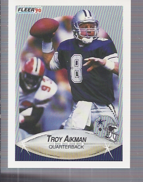 1990 Fleer #384 Troy Aikman