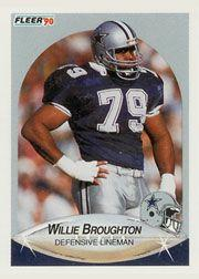 1990 Fleer #386 Willie Broughton