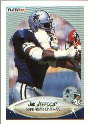 1990 Fleer #390 Jim Jeffcoat