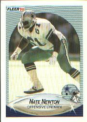 1990 Fleer #393 Nate Newton