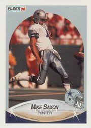 1990 Fleer #394 Mike Saxon UER