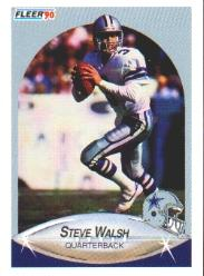 1990 Fleer #396 Steve Walsh
