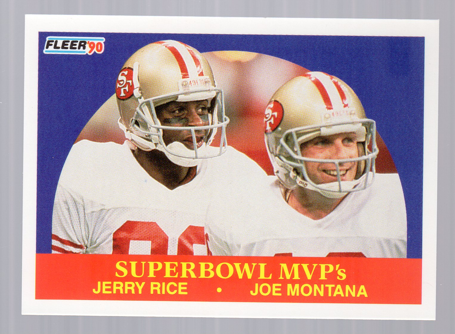 1990 Fleer #397 Joe Montana/Rice MVP's front image