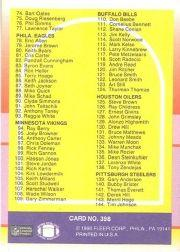 1990 Fleer #398 Checklist Card UER