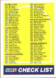 1990 Fleer #400 Checklist Card