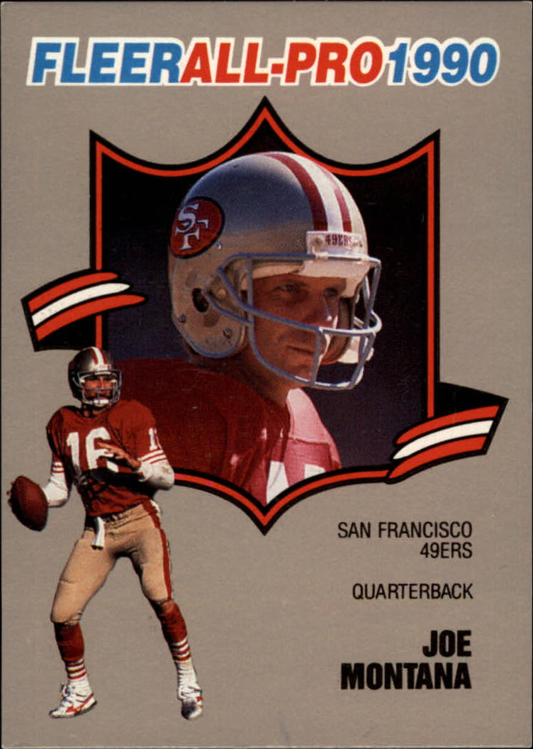 1990 Fleer All-Pros #1 Joe Montana