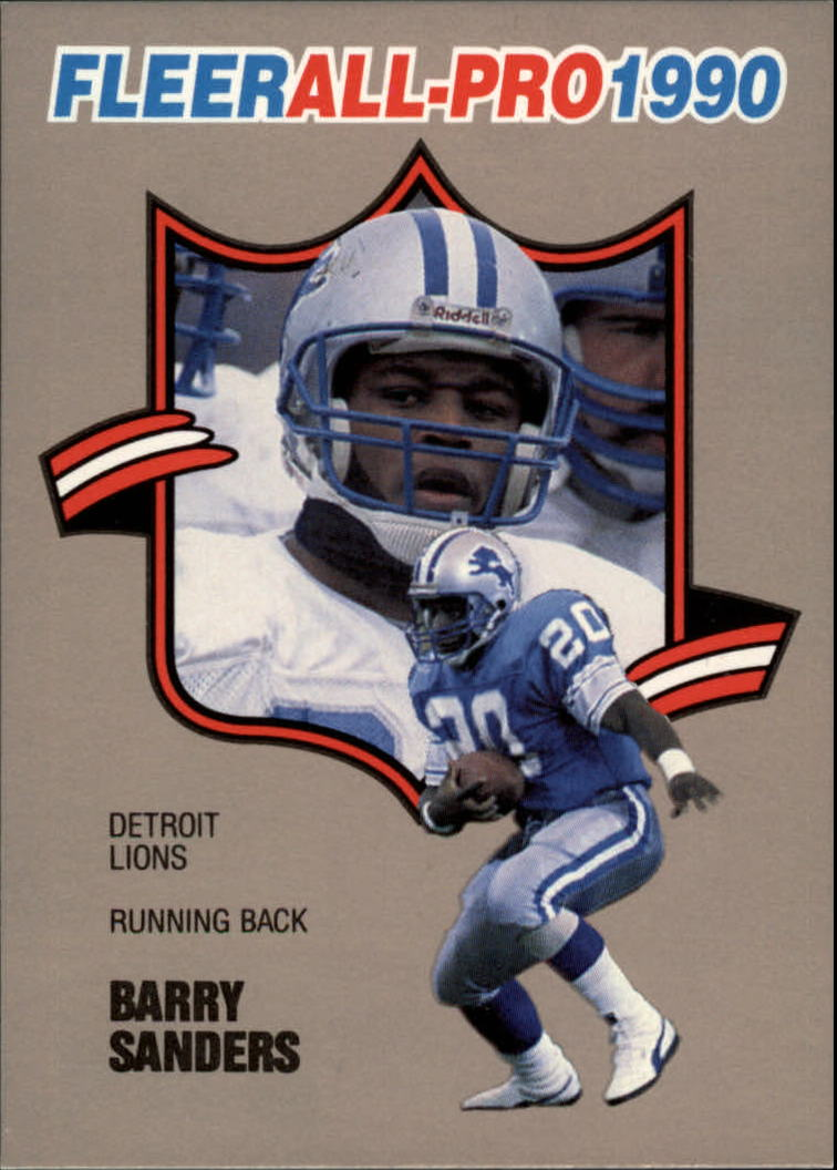1990 Fleer All-Pros #4 Barry Sanders
