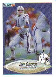 1990 Fleer Update #U4 Jeff George