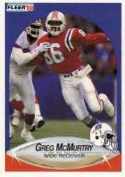 1990 Fleer Update #U6 Greg McMurtry RC