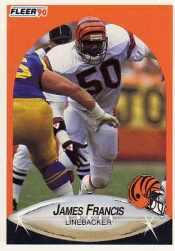 1990 Fleer Update #U8 James Francis RC