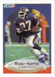 1990 Fleer Update #U11 Rodney Hampton RC