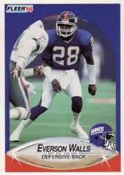 1990 Fleer Update #U14 Everson Walls