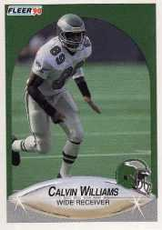 1990 Fleer Update #U19 Calvin Williams RC