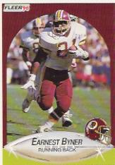 1990 Fleer Update #U20 Earnest Byner