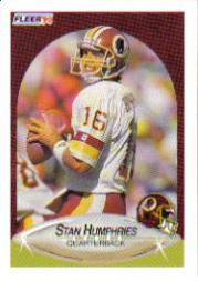 1990 Fleer Update #U23 Stan Humphries RC