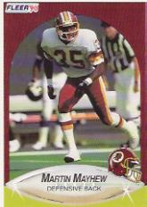 1990 Fleer Update #U24 Martin Mayhew RC