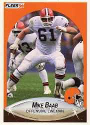 1990 Fleer Update #U30 Mike Baab