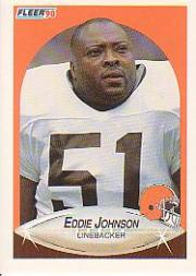 1990 Fleer Update #U32 Eddie Johnson RC