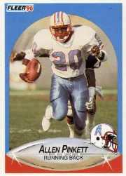 1990 Fleer Update #U36 Allen Pinkett