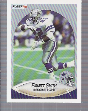 1990 Fleer Update #U40 Emmitt Smith RC